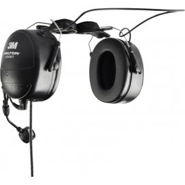 Auricular con casco de seguridad con conector NEXUS. Requiere adaptador PTT PMLN6095